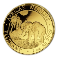 Somalia - 1000 Shillings Elefant 2017 - 1 Oz Gold