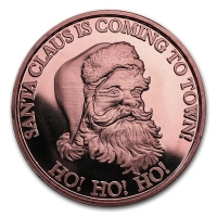 USA - Santa Claus Is Coming To Town - 1 Oz Kupfer