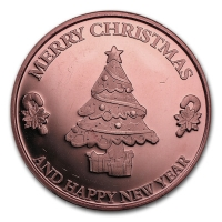 USA - Merry Christmas - 1 Oz Kupfer