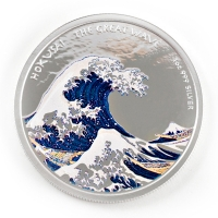 Fiji - 1 FJD The Great Wave 2017 - 1 Oz Silber PP Color