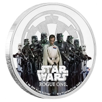 Niue - 2 NZD Star Wars Rogue One Imperium - 1 Oz Silber PP