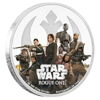Niue - 2 NZD Star Wars Rogue One Rebellion - 1 Oz Silber PP