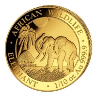 Somalia - 100 Shillings Elefant 2017 - 1/10 Oz Gold