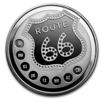 USA - Get Your Kicks on Route 66 - 1 Oz Silber