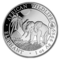 Somalia - African Wildlife Elefant 2017 - 1 Oz Silber Privy Hahn
