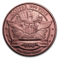 USA - Barber Half Dollar - 1 Oz Kupfer