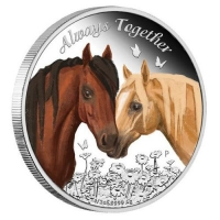 Tuvalu - 0,5 TVD Always Together 2017 - 1/2 Oz Silber