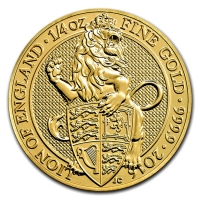 Großbritannien - 25 GBP Queens Beasts Lion 2016 - 1/4 Oz Gold