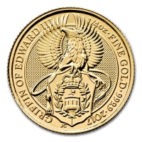 Großbritannien - 25 GBP Queens Beasts Griffin 2017 - 1/4 Oz Gold