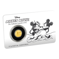 Niue - 2,5 NZD Disney Mickey Mouse Gallopin Gaucho 2017 - 0,5g Gold