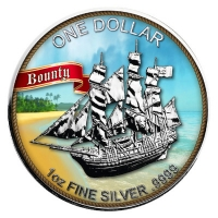 Cook Island - 1 CID Bounty 2017 - 1 Oz Silber Color