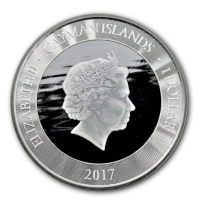 Cayman Islands - 1 Dollar Marlin 2017 - 1 Oz Silber