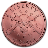 USA - Liberty or Death - 1 Oz Kupfer
