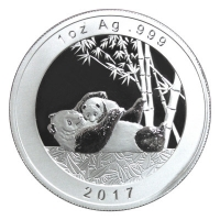 China - Show Panda Set Numismata München 4-Coin-Set - 1,85 Oz Silber