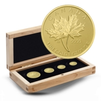 Kanada - 66 CAD Maple Leaf 4-Coin-Set - 1,4 Oz Gold