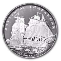 Fiji - 50 FJD Battle of Trafalgar 2003 - 2 KG Silber