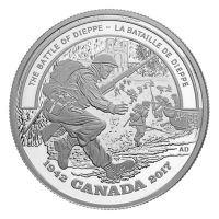 Kanada - 20 CAD WW2 Battle of Dieppe - 1 Oz Silber