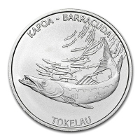 Tokelau - 5 NZD Kapoa Barracuda 2017 - 1 Oz Silber