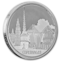 Niue - 2 NZD Great Cities Kopenhagen 2017 - 1 Oz Silber