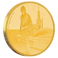 Niue - 250 NZD Star Wars Luke Skywalker 2017 - 1 Oz Gold