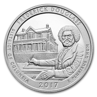 USA - 0,25 USD Columbia Frederick Douglass 2017 - 5 Oz Silber