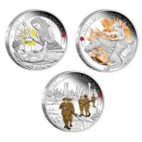 Australien - 1,5 AUD The ANZAC Spirit 3-Coin-Set 2017 - 1,5 Oz Silber