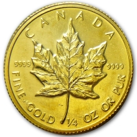 Maple Leaf - 1/4 Oz Gold