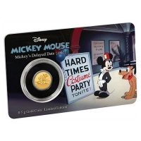 Niue - 2,5 NZD Disney Mickey Mouse Delayed Date 2017 - 0,5g Gold