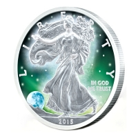 USA - 1 USD Frozen Silver Eagle 2015 - 1 Oz Silber Rhodium