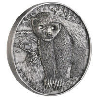 Niue - 2 NZD Honig Dachs (Honey Badger) - 2 Oz Silber Antik Finish