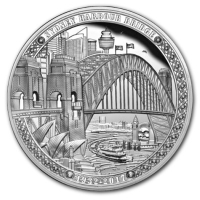 Niue - 2 NZD Sydney Harbour Bridge - 2 Oz Silber