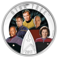 Kanada - 30 CAD Star Trek The Captains 2017 - 2 Oz Silber