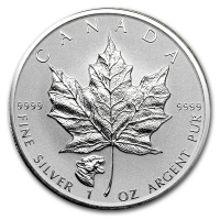 Kanada - 5 CAD Maple Leaf 2017 - 1 Oz Silber Privy Puma