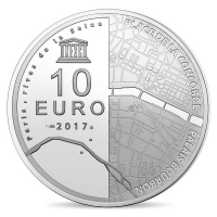 Frankreich - 10 EUR National Assembly / Place of Concorde 2017 - Silber PP