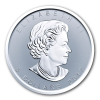 Kanada - 5 CAD Maple Leaf 2017 - 1 Oz Silber Privy Elch