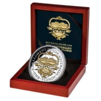 Niue - 10 NZD 90 Jahre Canberra Florin 2017 - 5 Oz Silber PP Gilded