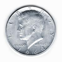 USA - 1/2 USD Half Dollar Kennedy 1964 - Silbermünze