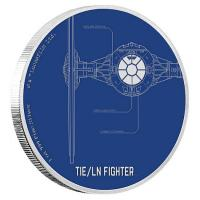 Niue - 2 NZD Star Wars TIE-Fighter 2017 - 1 Oz Silber PP