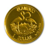 Bahamas - 1 Dollar Flamingo 1995 - 1/25 Oz Gold