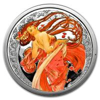 USA - Alfons Mucha Kollektion Dance - 5 Oz Silber PP Color