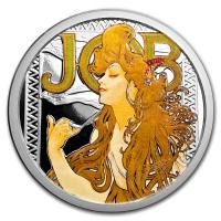 USA - Alfons Mucha Kollektion JOB - 5 Oz Silber PP Color