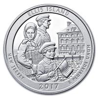 USA - 0,25 USD New Jersey Ellis Island 2017 - 5 Oz Silber