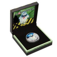 Tuvalu - 1 TVD Ghostbusters Stay Puft - 1 Oz Silber