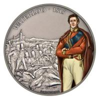 Niue - 2 NZD Battle History Waterloo - 1 Oz Silber