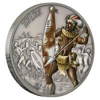 Niue - 2 NZD Warriors of History Zulu 2017 - 1 Oz Silber
