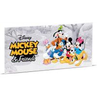 Niue - 2 NZD Disney Mickey Mouse and Friends 2017 - Silber-Banknote