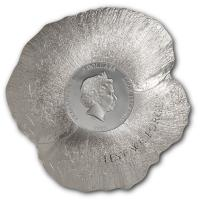 Cook Island - 5 CID Remembrance Poppy 2017 - 1 Oz Silber