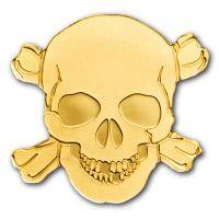 Palau - 1 USD Piraten Totenkopf 2017 - Gold PP