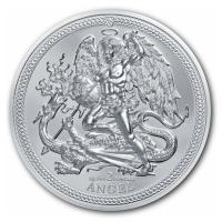 Isle of Man - 1 Angel 2017 - 2 Oz Silber Piedfort HighRelief