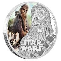 Niue - 2 NZD Star Wars Episode VIII Chewbacca - 1 Oz Silber PP
